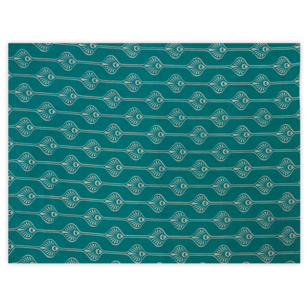 Peacock Teal Placemat, Set of 4