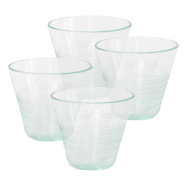 Scrappy Short Tumblers, Set of 4