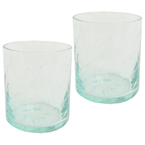 Scrappy Crackle Glass, Set of 4