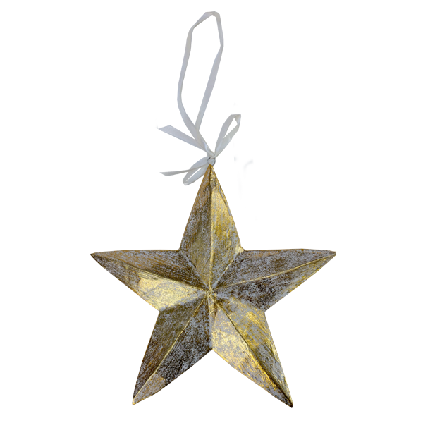 Big Gold Star Ornament