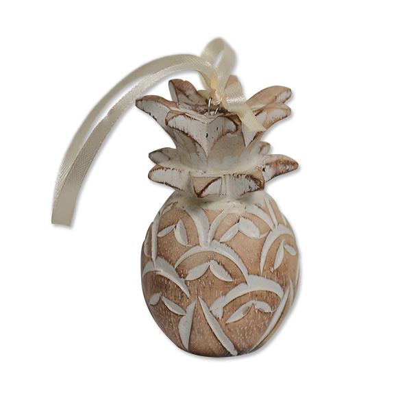 Pineapple Ornament Natural Finish