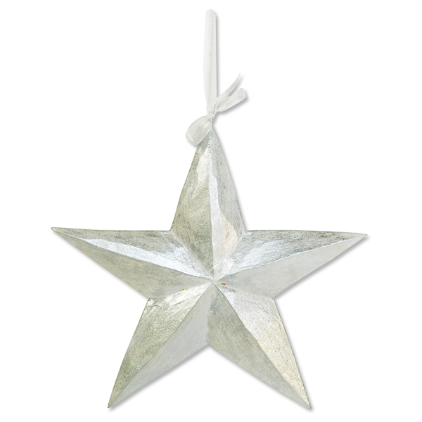 Big Silver Star Ornament