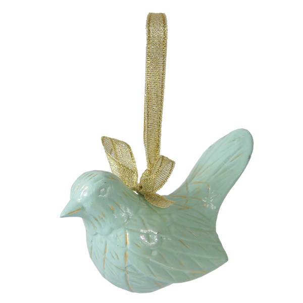 Aqua Bird Ornament