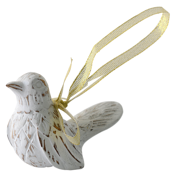 White Bird Ornament