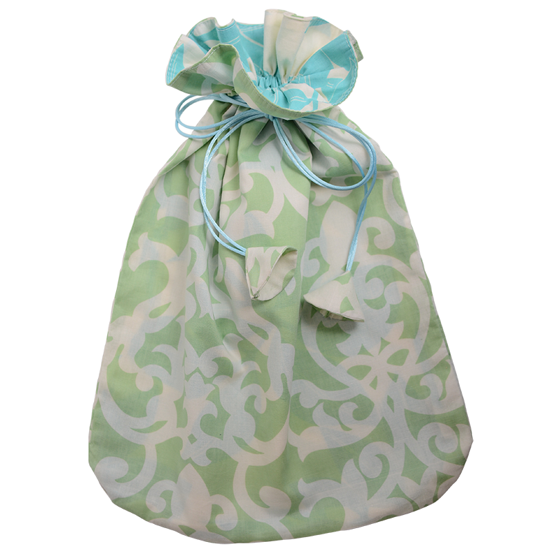 Florence Pistachio Drawstring Bag, Large