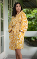 Turmeric Shorter Kimono Robe - SALE CLOTHING & KIDS