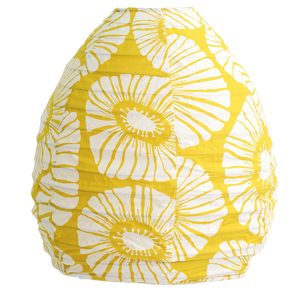 Yellow Retro Flowers Beehive Lampshade