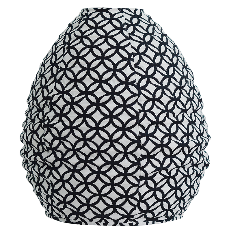 Rings Black & White Beehive Lampshade