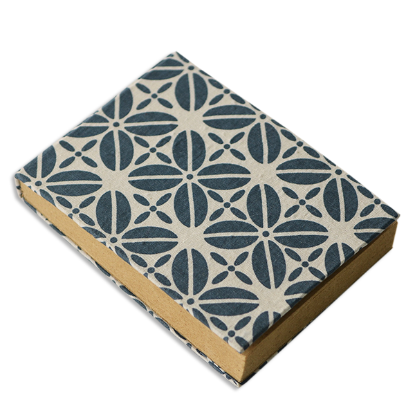 Mini Fabric covered journal - Indigo