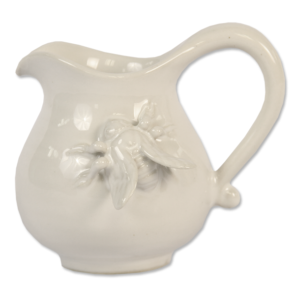 White Ceramic Bee Creamer