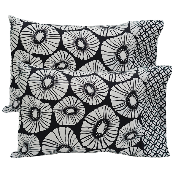 Black & White Standard Pillow Cases