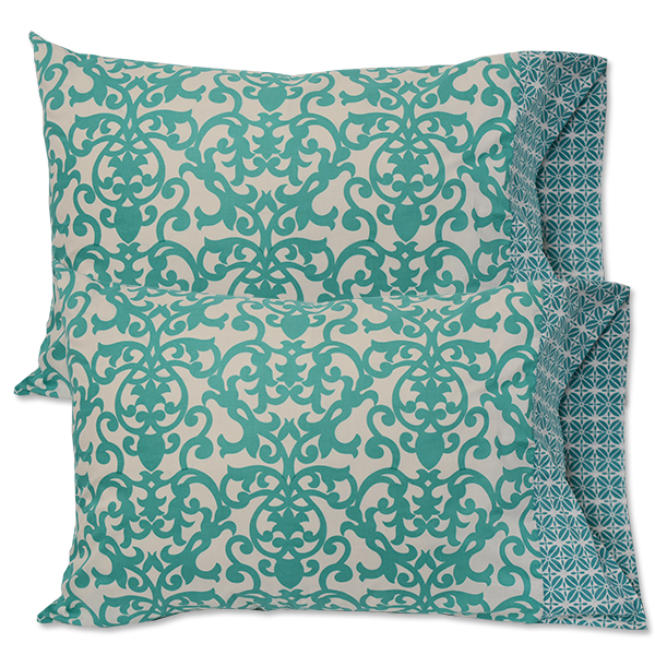 Turquoise Standard Pillow Cases - set of 2