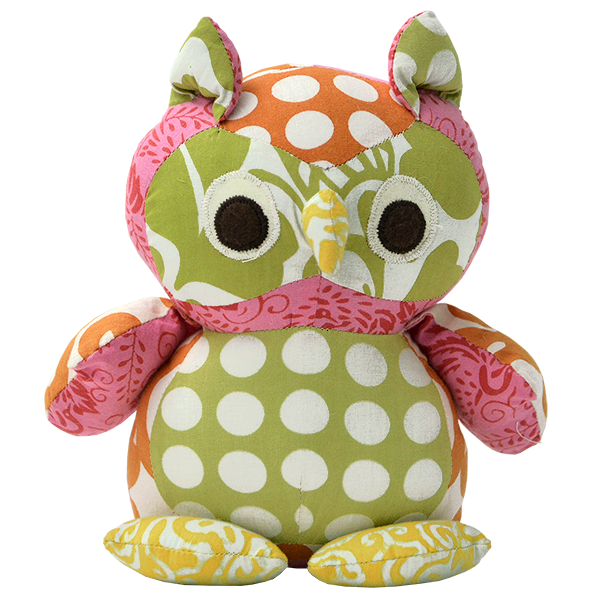 Bright Spring Scrappy Patchwork Owl