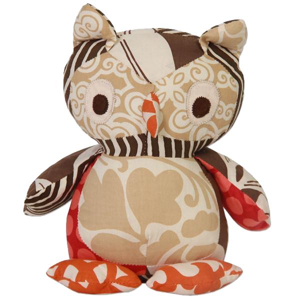 Fall Scrappy Patchwork Owl