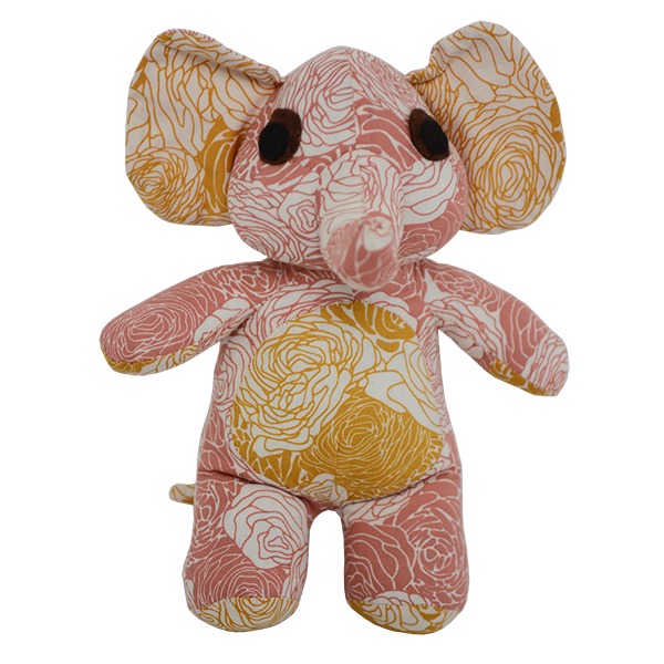 Flowers Warm Patchwork Elephant, Small