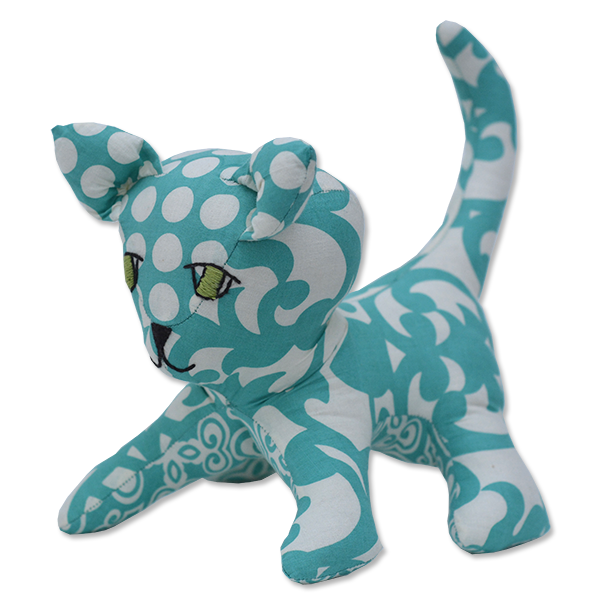 Turquoise Scrappy Kitten - SALE CLOTHING & KIDS
