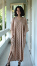 Rings Caramel Kaftan Dress, 1 size
