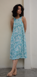 Spring Flowers Teal Tank Rayon Dress, 3 sizes