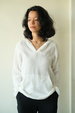 White Cotton Crinkle Hoodie, 3 sizes