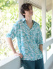 Frangipani Teal Rayon Shirt - SALE CLOTHING & KIDS