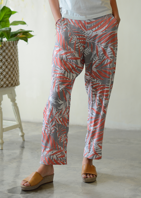 Palm Coral Faun Lounging Pants, 3 sizes
