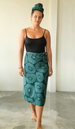 Retro Flower Sarong in 2 colors