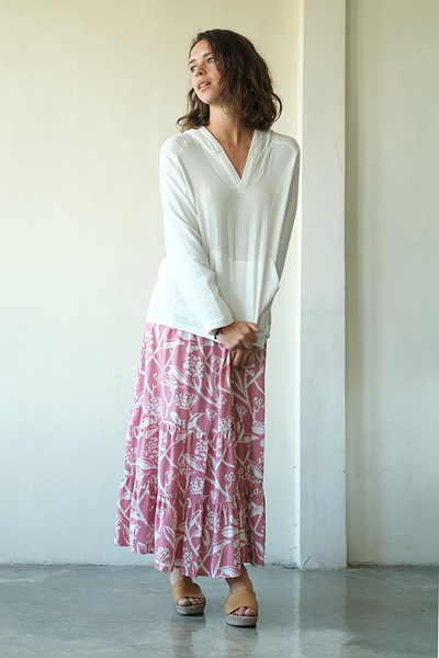 Frangipani Blush Gypsy Skirt, 2 sizes - SALE CLOTHING & KIDS