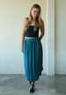 Dark Teal Easy Skirt, 3 sizes