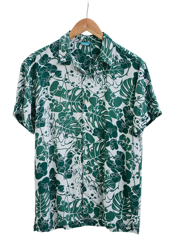 Men's Hawaian Shirt Orchid Emerald, 3 sizes