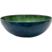 Green & Blue Capiz Shell Salad Bowl
