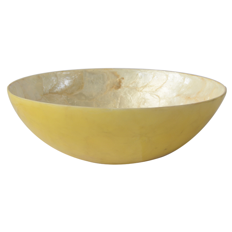 Turmeric Capiz Shell Salad Bowl, Small