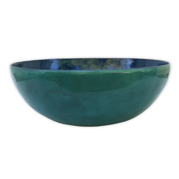 Water Capiz Shell Salad Bowl, Small