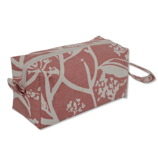 Frangipani Blush Cosmetic Case, Medium