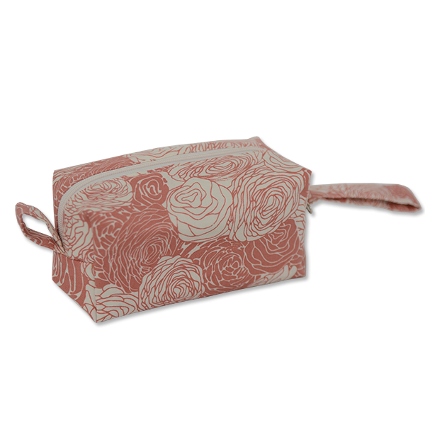 Spring Flowers Blush Cosmetic Case, Small
