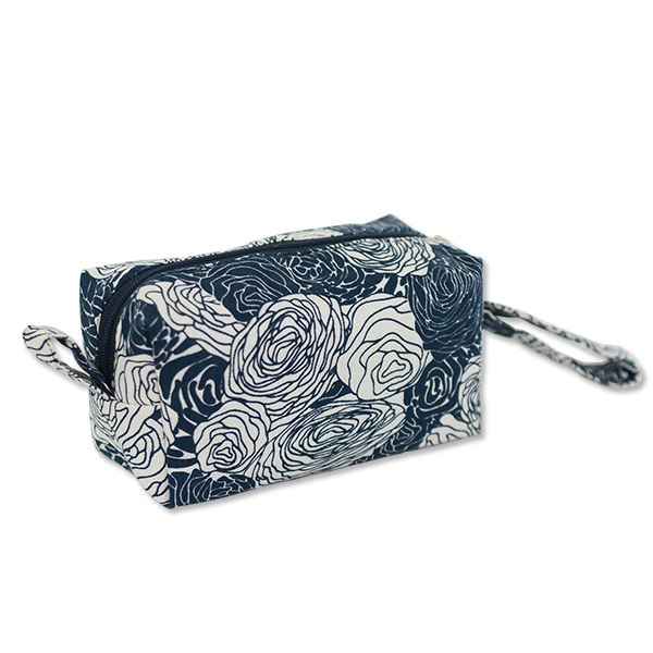 Spring Flowers Indigo Cosmetic Case, Small