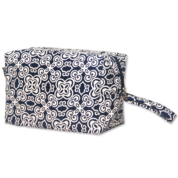 Batik Indigo Cosmetic Case, Large