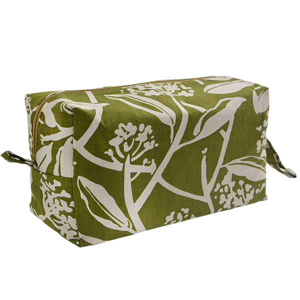 Frangipani Avocado Cosmetic Case, Large