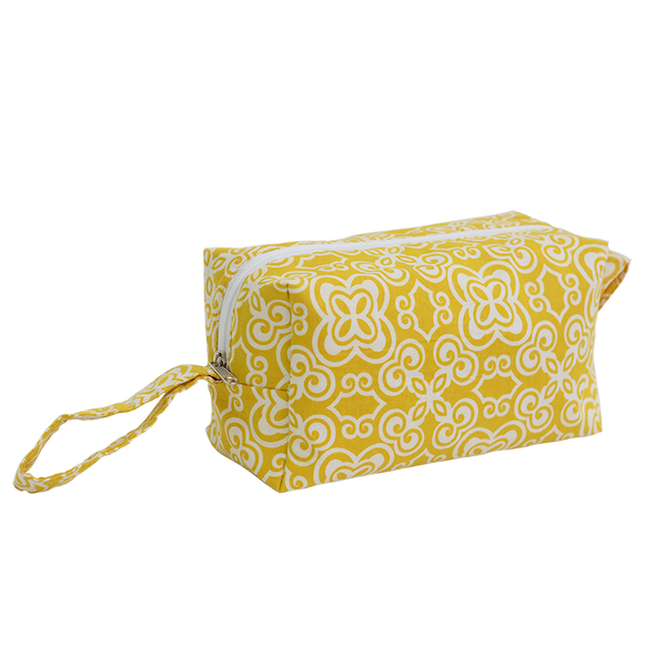 Batik Yellow Cosmetic Case, Medium