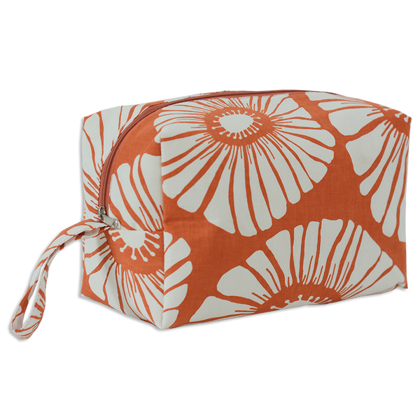 Retro Flowers Spice Cosmetic Case, Large
