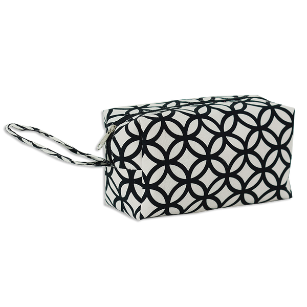 Rings Black & White Cosmetic Case, Medium