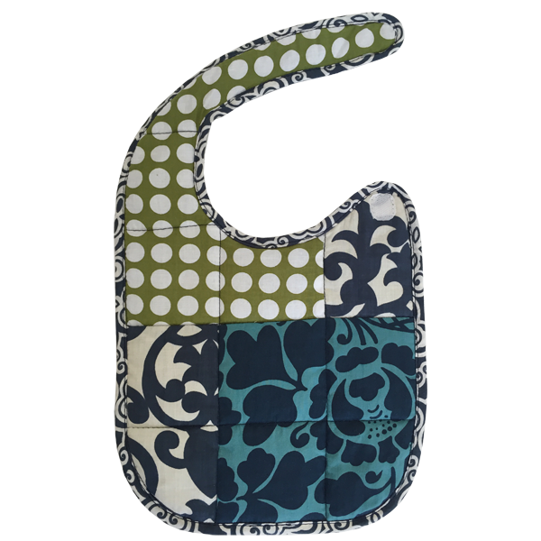 Blue Scrappy Bib, 2 Sizes
