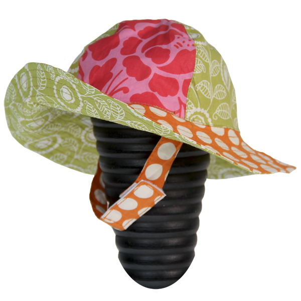 Dots Orange Scrappy Sun Hat, 3 Sizes