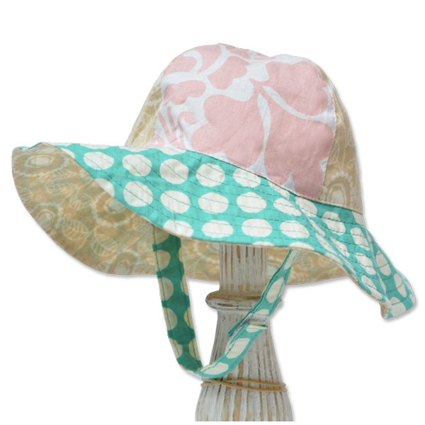 Dots Pastel Scrappy Sun Hat, 3 Sizes