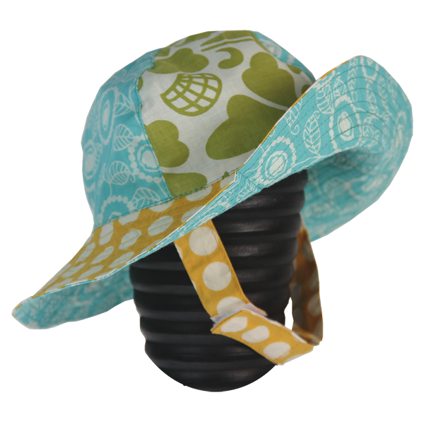 Dots Yellow Scrappy Sun Hat, 3 Sizes