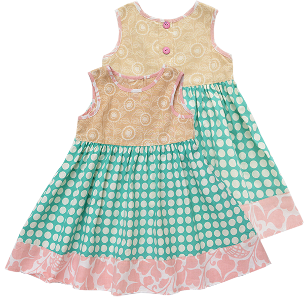 Dots Pastel Scrappy Sun Dress, 3 sizes - SALE