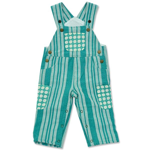 Turquoise Hand Loomed Overalls, 4 Sizes