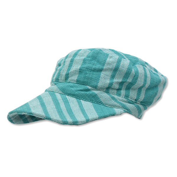 Turquoise Hand Loomed Cap, 2 Sizes
