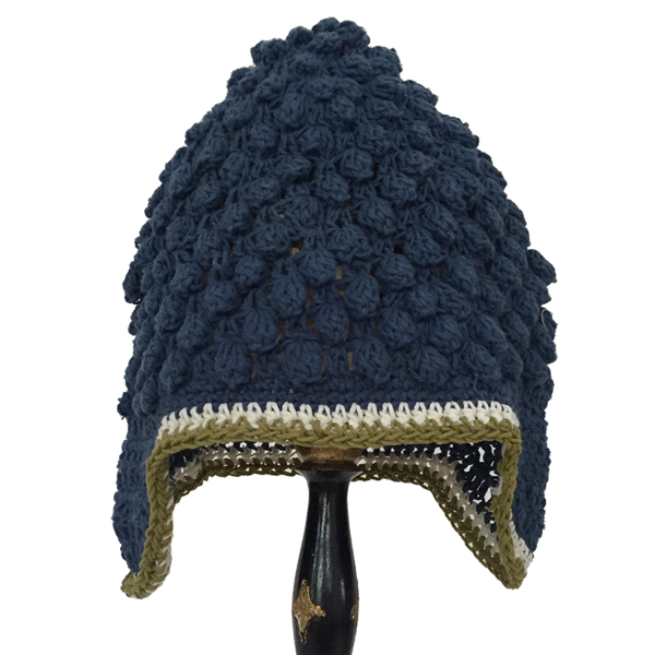 Blue Buddha Beanie, 2 Sizes