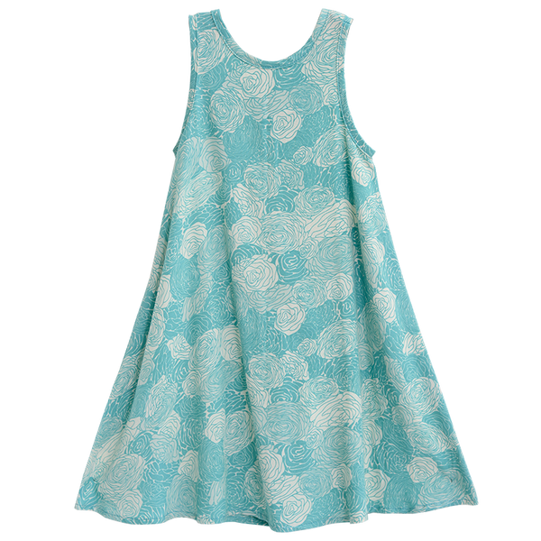 Swing Dress Spring Flowers Girl's Dress, 5 sizes