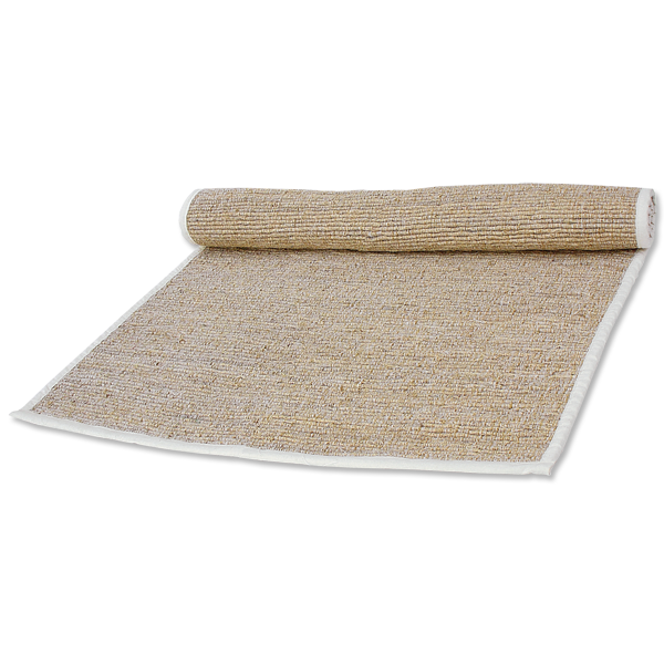 Natural Vetiver Bathmat with Cotton Trim